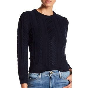 NWT Frame Denim Cropped Cable Knit Sweater size M